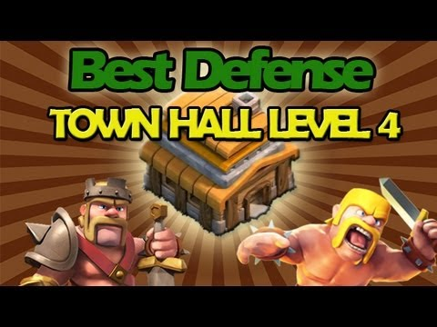 BEST Town Hall Level 4 Defense Strategy for Clash of C