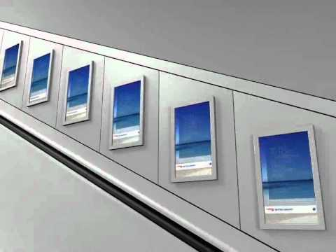 BA Caribbean - Digital Escalator Panels in London Tube Stations