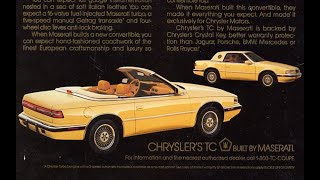 Chrysler's TC by Maserati dealer confidential information tape 2