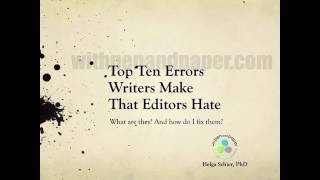 PREVIEW - Top Ten Errors Writers Make and Editors Hate