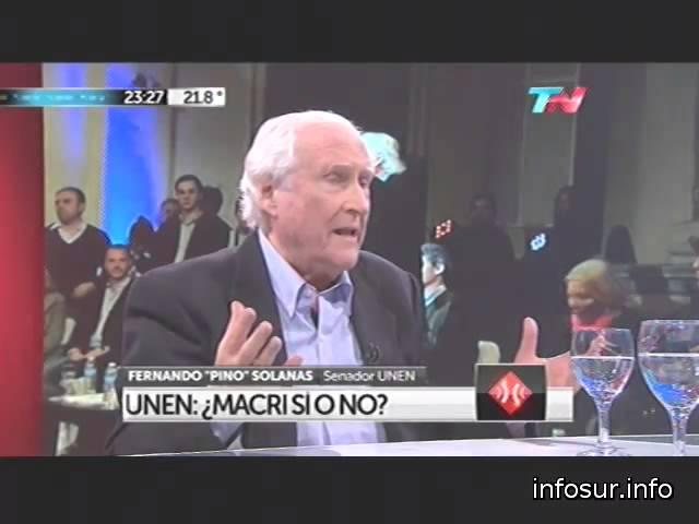 Pino Solanas en A Dos Voces sobre el futuro de UNEN 20-8-14