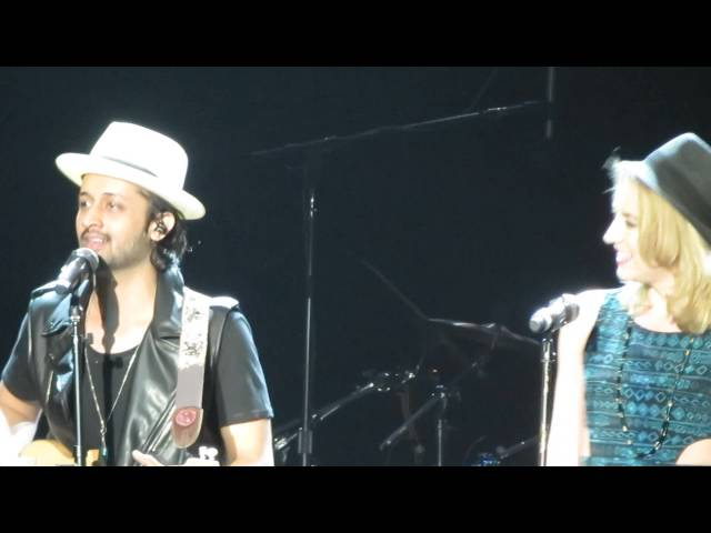 Atif Aslam with Nina Noir (One who learnt from Michael Jackson's vocal coach)