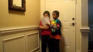 7 Year Old And Eight Year Old Sings Eight Tiny Reindeer Original Song By Me And Ryan