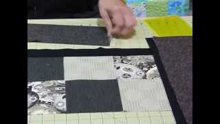 How to make a small quilt using 3 delicious fat quarters - Quilting Tips & Techniques 128
