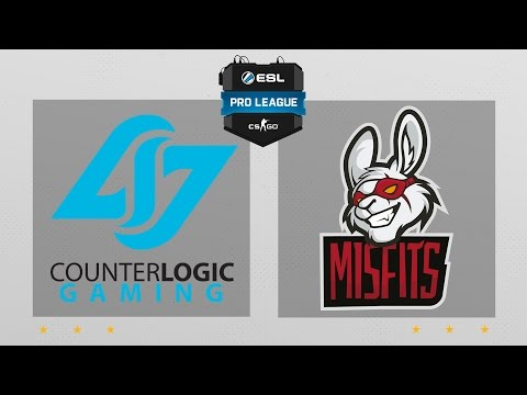 CS:GO - CLG vs. Misfits [Cache] Map 1 - ESL Pro League Season 5 - NA Matchday 8