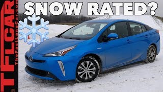 2019 Toyota Prius AWD vs Wisconsin Blizzard - Sort of...