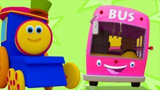 Wheels On The Bus Go Round And Round | Songs for Childrens | Baby Song by Bob The Train