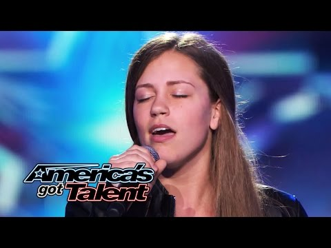 "Julia Goodwin: 15-Year-Old Singer Works With Dad for ""Feeling Good"" Cover - America's Got Talent"