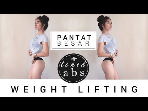 Membesarkan Pantat + Toned Abs 🍑🍑🍑 || Bikini Body Workout || Glutes Gym Day