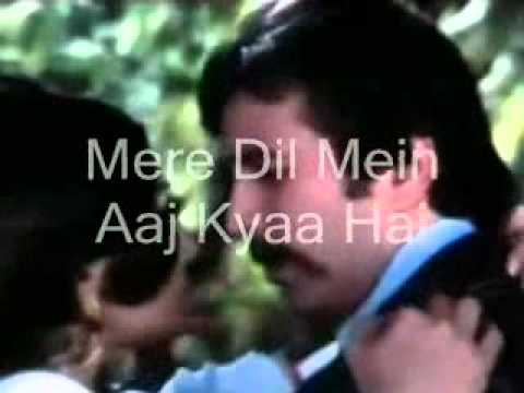 Mere Dil Mein Aaj Kya Hai-karaoke & Lyrics-daag video