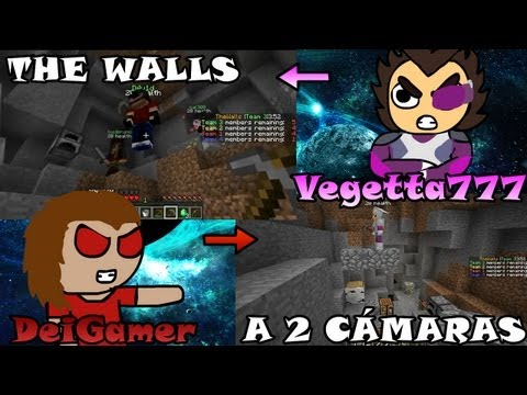 Minecraft THE WALLS | Gameplay a 2 cámaras con Vegetta777 | Super FAILS :c (GLITCH - BUG - LAG)