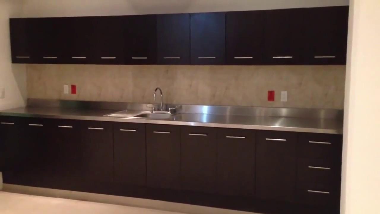 Cocinas integrales con acero inoxidable youtube for Modulos para cocinas integrales