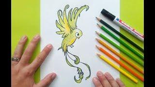 Como dibujar un pajaro paso a paso 9 | How to draw a bird 9