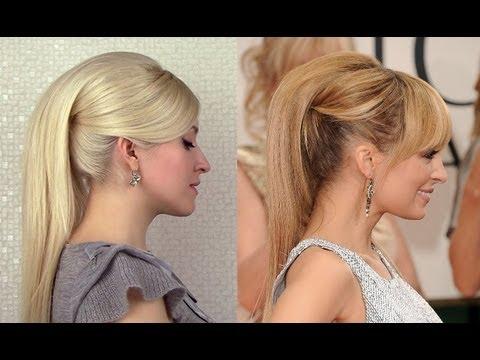 прически на средние волосы ретро хвостик