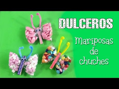 Dulcero de mariposas   decoración para fiestas infantiles