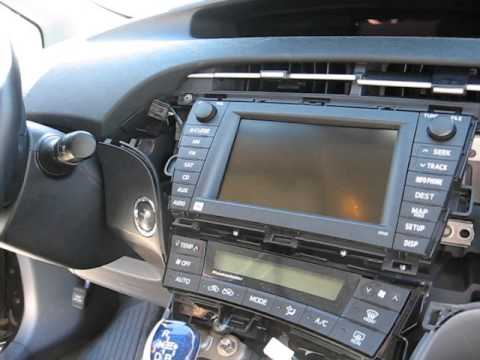 How to Remove Radio / Navigation / CD Changer from Toyota Prius 2010 for Repair.