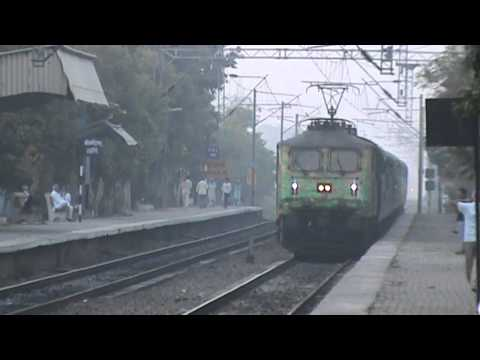 Duronto WAP-7 Himalayan Queen Express glides down the Khera...