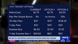 Fare and toll increases range from zero to 13 percent