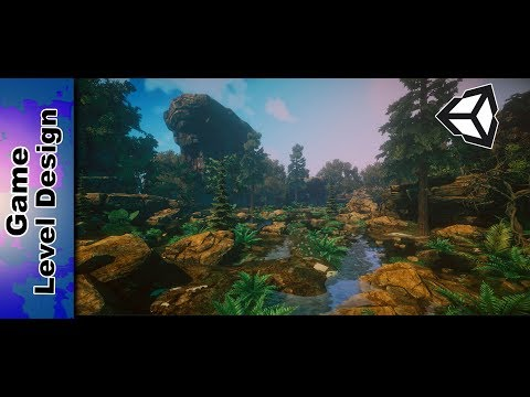 Making a speed level design - Tropical Forest [ unity 5 ]