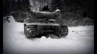 Tank Tiger replica in motion #1