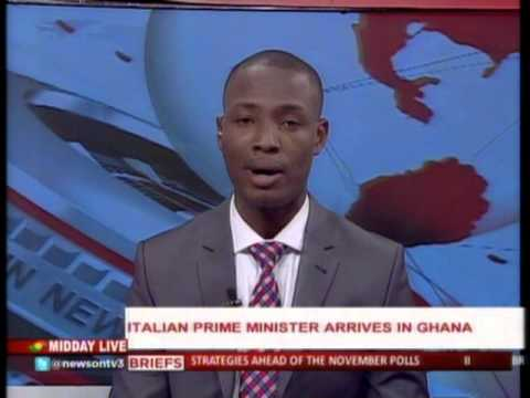 MiddayLive - Italian prime minister arrives in Ghana - 1/2/2016