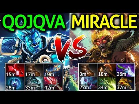 Miracle- Monkey King VS Qojqva Storm Spirit Dota 2 | Beautiful Game