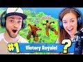 GIRLFRIEND + BOYFRIEND DUOS! (Can we #1 WIN?) - Fortnite: Battle Royale