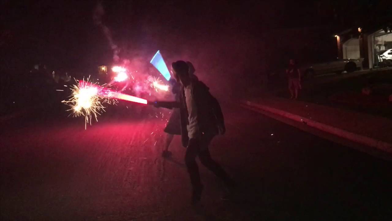 [Lightsabers Vs Roman Candles] Video