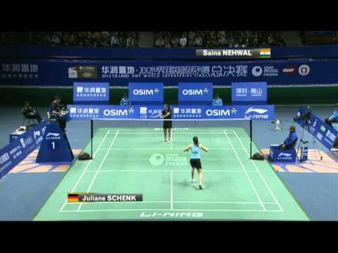 RR Day 3 - WS - Juliane Schenk vs Saina Nehwal - 2012 WSS Finals