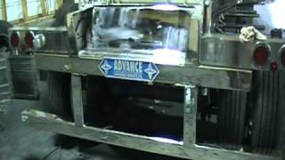 Stinson trailer frame - stainless Steel polishing, chrome finish