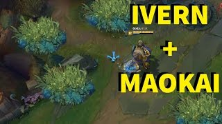 IVERN + MAOKAI! DEADLY BUSHES EVERYWHERE!! INSANE DAMAGE  - ONESHOTS [ League of Legends ]