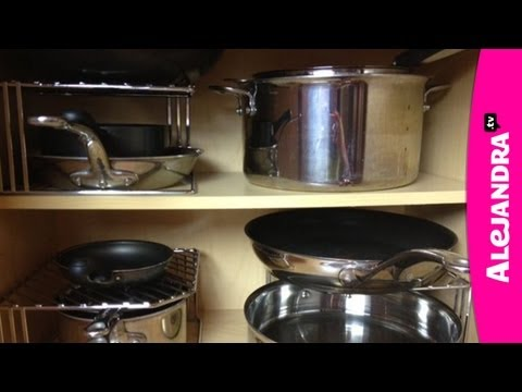 How to Organize Pots. Pans & Lids in the Kitchen