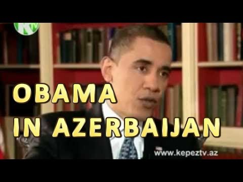 Obama's interview, Ganja, Azerbaijan