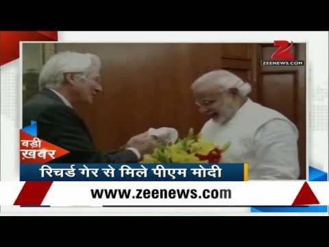 Hollywood actor Richard Gere meets PM Narendra Modi