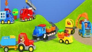 Zug, Bagger, Lastwagen, Traktor, Spielzeugautos, Polizeiauto & Feuerwehrmann von LEGO DUPLO deutsch