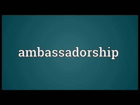 Header of Ambassadorship
