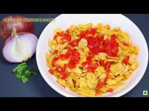 """Breakfast Recipe-Cheesy Cornflakes (Kellogg's Waale Guptaji ka""""Line Pe Laane Wala Nashta"""")"""