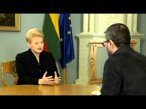Lithuanian president Dalia Grybauskaite calls Russia 'predatory neighbour'