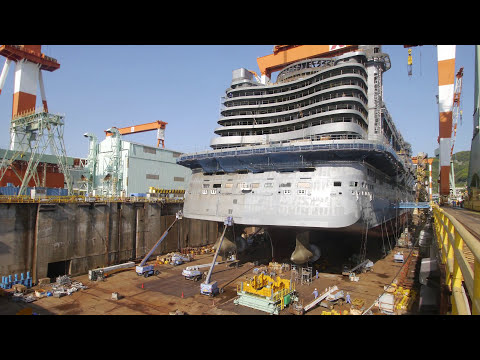 AIDAprima Cruise Ship Construction & Christening in 4K by MK timelapse