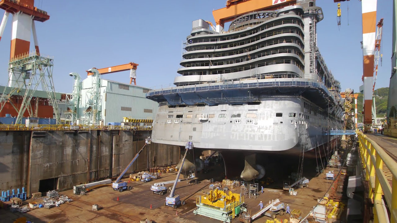 Check Out This Awesome Timelapse Construction Of A Cruise Ship