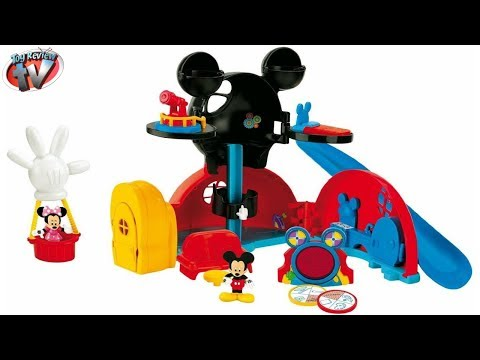 Disney Junior Mickey Mouse Clubhouse: Mickey's Clubhouse Playset Toy Review. Fisher Price