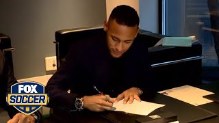 Neymar signs new contract at Barcelona | FOX SOCCER