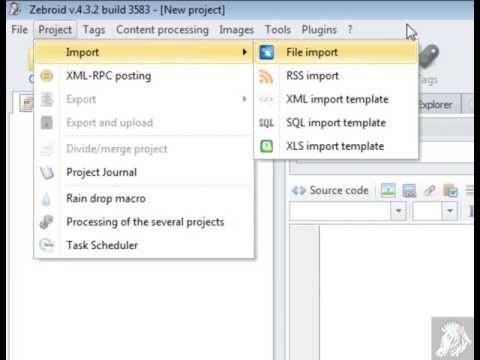 Import - How to import content into Zebroid