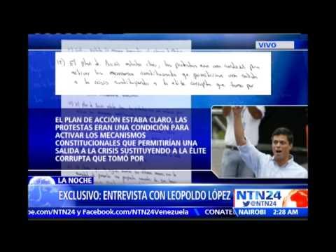 Esta es la carta completa enviada por Leopoldo López desde su celda de castigo