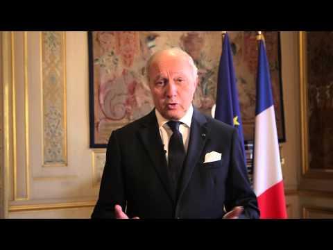 Message de Laurent Fabius, ministre des Affaires étrangères