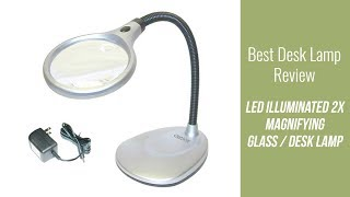 Desk Lamp Review - LED Illuminated 2X Magnifying Glass / Desk Lamp