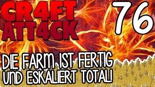 DIE FARM IST FERTIG UND ESKALIERT TOTAL! XD - CRAFT ATTACK 4 #76 | GAMERSTIME