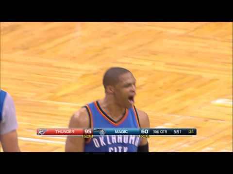 Russell Westbrook Caps the Break with the Double-Clutch Reverse