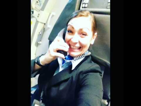 But first let me take a selfie. Flight attendant style.
