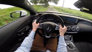 Mercedes S-Class Coupe 456BHP 4Matic 2014 POV test drive GoPro